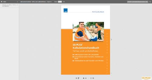 Blätterkatalog Kalkulationshandbuch Tiefbau und Landschaftsbau