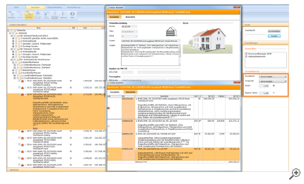Beispiel Elemente für die Kostenplanung nach DIN 276