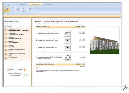 Ausstattungsstandard Baukonstruktion und Gebäudetechnik