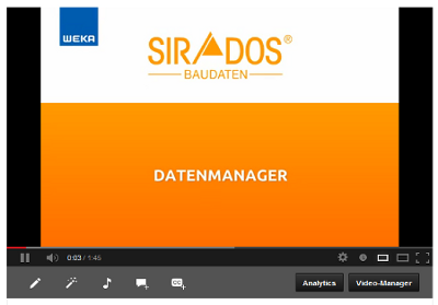 Video SIRADOS Datenmanager