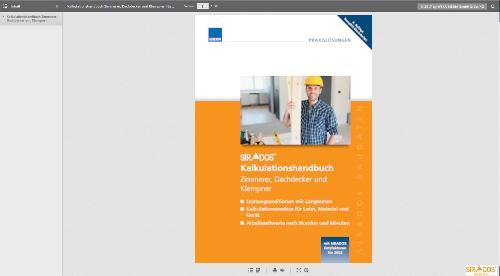 Leseprobe Kalkulationshandbuch Zimmerer, Dachdecker, Klempner