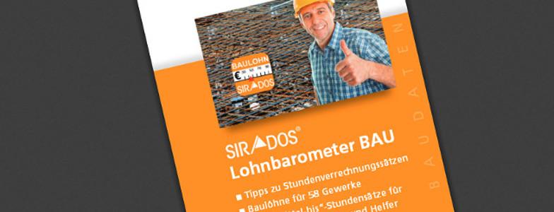 Kostenloser Service von SIRADOS: Lohnbarometer BAU