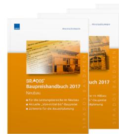 Aktuelle und marktrecherchierte SIRADOS Baupreise für 2017 im Taschenbuchformat und als E-Book
