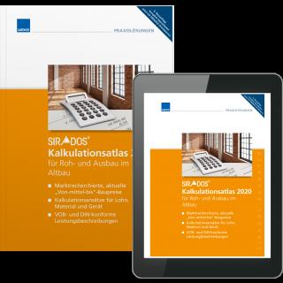 SIRADOS Kalkulationsatlas für Roh- und Ausbau im Altbau inkl. E-Book