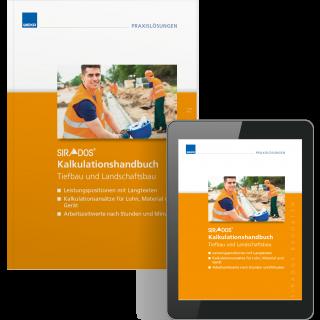 SIRADOS Kalkulationshandbuch Tiefbau und Landschaftsbau inkl. E-Book