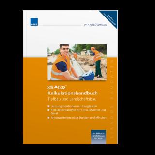 SIRADOS Kalkulationshandbuch Tiefbau und Landschaftsbau